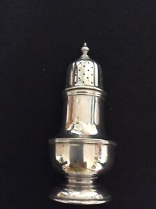 Art Deco solid sterling silver sugar caster / sifter - London 1934