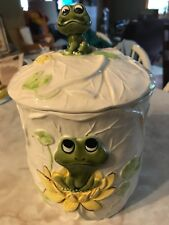 LARGE Vintage 1979 Sears Roebuck frog cookie jar with S/P shaker