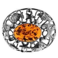 Sterling Silver Amber Fine Necklaces & Pendants