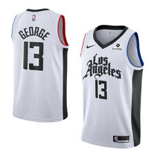 Paul George #13 Los Angeles Clippers Men's N White City Jersey