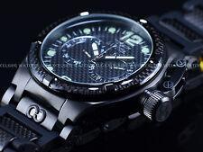 New Invicta Men 50mm Triple Black Carbon Fiber Edition Corduba Ibiza Swiss Watch