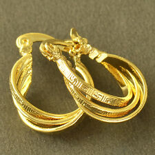 vintage jewelry Yellow Gold Plated Womens small Hoop Earrings earings Childrens