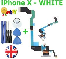 For iPhone X USB Charging Port Dock Connector Flex spare replacement part WHITE