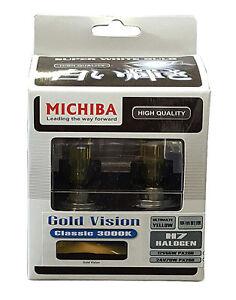 Michiba H7 12v 55w 3000K Gold Vision Bulbs (Yellow)