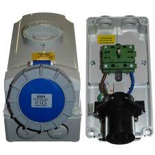 32 Amp 3 Pin Vertical Interlocked Socket IP67 Waterproof 230 Volt 32A Compressor
