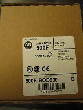 NEW ALLEN BRADLEY SIZE 1 CONTACTOR 500F-BOD930 27A NEW IN BOX