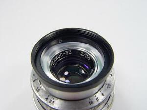 340 ln/mm !! OKC Helios-33 f/2 35mm Zenit Planar s/n 870047 M39 Leica Sony mft