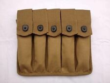 WWII US AMRY THOMPSON MAGAZINE POUCH 5 CELL 30 ROUNDS MILITARY AMMO BAG