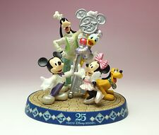 Tokyo Disney 25th Anniv Magic Key Mickey Minnie Daisy Goofy Pluto Resin Figurine