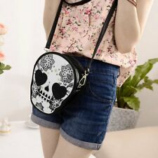 Fashion Women Mini PU Purse Skull Shoulder Handbag Satchel Bag 4z