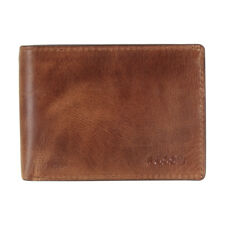 Fossil Derrick Small Brown Leather Men'S Wallet Ml3709