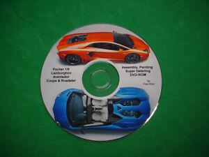 POCHER 1/8 LAMBORGHINI AVENTADOR ASSEMBLY, PAINTING, SUPER DETAILING DVD-ROM