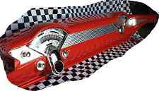 1955-56 Chevy Car 3 Piece Dash Insert Engine Turn