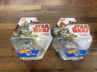 Hot Wheels Star Wars Battle Rollers Set of 2 Rey & Boba Fett