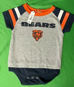 B616/90 NFL Chicago Bears Grey Baby-Grow 3-6 months