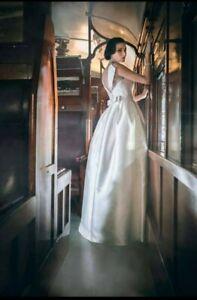 Bertossi Brides sweetheart lace pleated wedding debutante dress size 12
