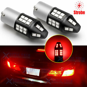 1156 LEGAL STROBE Flashing Blink Brake Light Center High Mount Stop Light Bulbs