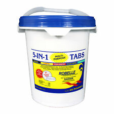 "Robelle Chlorine 5-in-1 3"" Tabs Swimming Pool Sanitizer Chemical - 20 Lbs."
