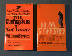 2 Beautiful Vintage William Styron Signet Paperbacks Nat Turner & Lie Down