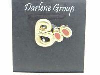 Vintage Halloween BOO Gold Tone Enamel Darlene Group Pin Brooch