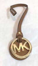 MICHAEL KORS LEATHER/METAL HANDBAG CHARM NAME TAG  ACORN/GOLD  NWOT