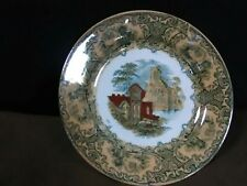 "Lovely Antique Pewtrus Regout Maastricht  Iridescent Orange""Abbey""Plate,Holland"