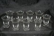 lot de 9 verres anciens pour cave à liqueur