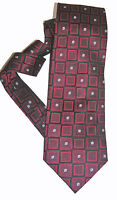 Peacock NEW Red Black Floral Men's Neck Tie Silk $55 A3108