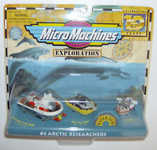 """Micro Machines Exploration""""#4 Arctic Researchers"""" Factory Sealed Galoob 1996"""