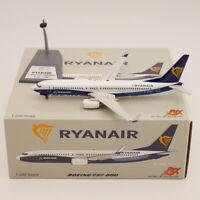 JFOX 1:200 Ryanair Boeing 737-800 EI-DCL Diecast Aircraft Model Metal Toy Airpla