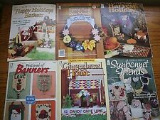 Lot (6) House of White Birches Plastic Canvas Booklets - Variety of Projects