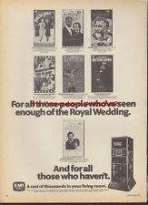 EMI Video Royal Wedding Pre-Cert Magazine Advert #1204