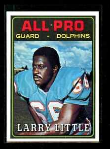 1974 TOPPS #123 LARRY LITTLE DOLPHINS NM/MT D023577