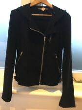 Lot 78 Velvet Velour Hooded Biker Jacket like Equipment IT 40 S Small M Medium