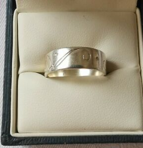 Sterling Silver Band Ring, Size L, FREE UK POSTAGE