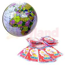 12 x INFLATABLE GLOBE BALLS SCHOOL CHRISTMAS FAIR PARTY STOCKING FILLER