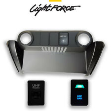 LIGHTFORCE FORD RANGER PX2 PX3 2015 ONWARD FASCIA PANEL KIT LED BAR SWITCH UHF