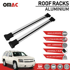 Roof Rack Cross Bars Luggage Carrier Silver for Chevrolet Tahoe 2007-2014