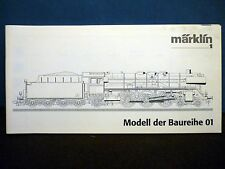 Märklin H0  - Original Operating Manual - Beschreibung for   Baureihe – Class 01