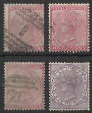 SOUTH AFRICA / NATAL QV 1874-99 USED