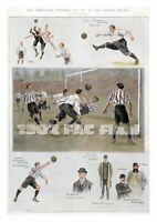 Beautiful Football Art Print, 1902 FA Cup Final - Sheffield United v Southampton