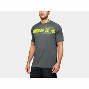 Under Armour Men's UA Tech 2.0 Graphic Pitch Gray/Yellow XL 1352052-012