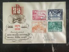 1949 British Guiana First Day Cover FDC Universal Postal Union 75th Anniversary