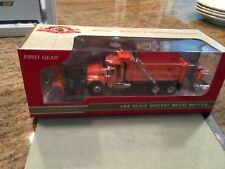 1/64 First Gear Mack Orange Dump Truck with Snowplow Rare (same scale as DCP)