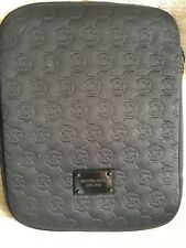 Michael Kors Ipad / Tablet Case Sleeve Pouch Black Neoprene EUC