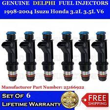6x Genuine Delphi fuel injector for 98-04 Isuzu Honda 3.2L 3.5L V6 #25166922
