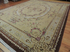 RARE size Palace/Oversize French Aubusson Style Area Rug 12x15 Gold, Brown