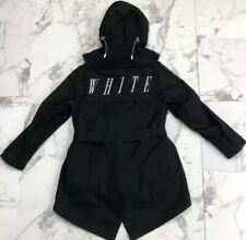 NWT Off-White C/O Virgil Abloh Carry Over Men's Black Hooded Parka Jacket Coat
