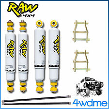 "Holden Rodeo RA RAW Front & Rear Shocks + Torsion Bar + Shackles 2"" HD Lift Kit"
