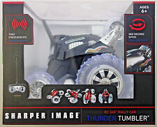 Sharper Image RC 360 Rally Car Black Thunder Tumbler battery op remote